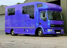 This is a Deluxe Helios sprayed with a blue/purple metallic pearl. #KPHLTD #HorseHour #horseboxesforsale #horseboxes #DAF