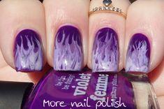 More Nail Polish- Purple Fire Drag Marble