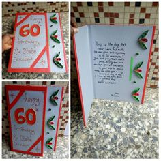 Handmade 60th birthday card for a different recipient