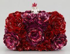 Alexander McQueen Metal Flowers Clutch