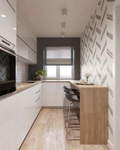 home decor ideas do it yourself designs Galley Kitchen Design, Kitchen Room Design, Modern Kitchen Cabinets, Home Room Design, Kitchen Cabinet Design, Home Decor Kitchen, Home Decor Bedroom, Kitchen Furniture, Kitchen Interior
