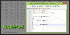 تحميل برنامج النوت باد Notepad للكمبيوتر Map Note Pad Map Screenshot