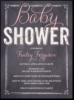 Baby Board: Bloom, baby girl shower invites