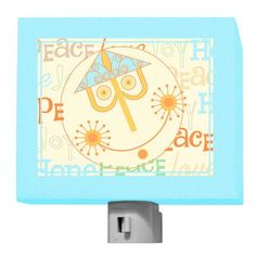 It's a Small World - Gold and Blue Moroccan Sun night light.  oopsydaisy.com