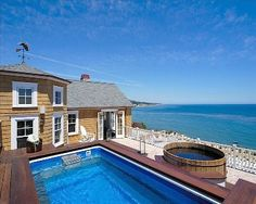 Santa Barbara Beach Club Photo Gallery - A Luxury Vacation Rental Property Santa Barbara Beach, Coastal Living Magazine, Mansions For Sale, Luxury Spa, Cool Pools, Rental Property, Beach Club, Luxury Real Estate, Luxury Homes
