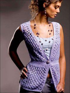 Lavender Lace Vest free crochet pattern