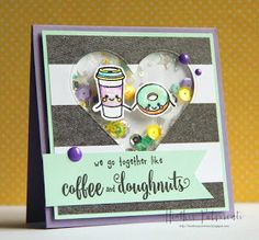 :) I'm popping in to share another card I created with the We Go Together set from W. Love Cards, Diy Cards, We Go Together Like, Coffee Cards, Heidi Swapp, Crate Paper, Shaker Cards, Card Maker, American Crafts