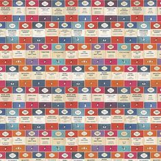 Papier peint voyage et paysage orange Penguin Library - Osborne & Little - Au fil des Couleurs