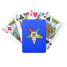 OES Order of the Eastern Star Playing Cards, Blue