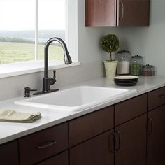 Moen Dark Brozen One-Handle High Arc Kitchen Faucet