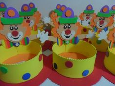 Circus Crafts, Carnival Crafts, Cardboard Crafts, Foam Crafts, Paper Crafts, Clown Party, Circus Party, Kids Crafts, Diy And Crafts