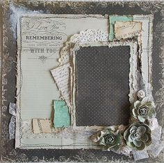Premade 12x12 Shabby Chic Heritage Layout Vintage by Featherrs, $30.00