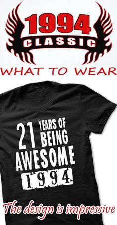 T-Shirts for your year of birth 1994 - Store address at United Stated - Shipping worldwide Thank you !
