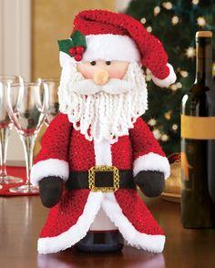 Santa Wine Bottle Cover for Hostess Gifts