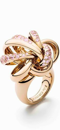 de Grisogono rose gold and pink sapphire CATENE ring | LBV ♥✤ | BeStayBeautiful