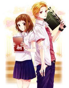 tsudatte Bokura No Koi Wa 10 cm Datta… Manga Couple, Anime Love Couple, Cute Anime Couples, Couple Art, Shoujo Ai, Gekkan Shoujo, Koi, Vocaloid, Anime Girls