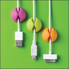 hold cables in place with color!