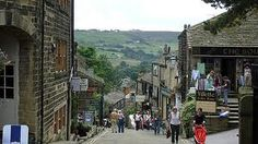 Amazing beautiful town. Would love to go there. Haworth, UK near Leeds in Yorkshire. Visit Bronte country.