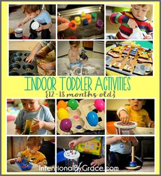 12 indoor toddler activities for your 12-18 month old.