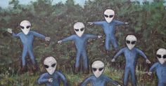 Because Aliens Abducted Him when He was a Child, He Now Paints Pictures of Them