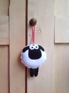 Hanging Felt sheep by FizzyFelt on Etsy