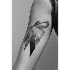 Tatouage - Cygne - Graphique - Bras - Idée - Féminin