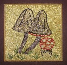 Or Nue Toadstools - new Or Nue Goldwork kit available from www.alisoncoleembroidery.com.au