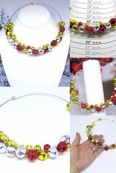 Fashionable Snowflake Bow Bell Jingle Necklace Ear Hook Christmas Favor Gift one