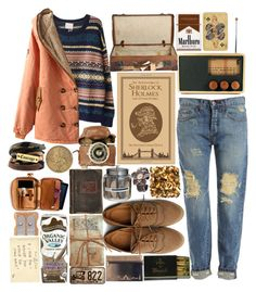 """""""Sherlock Holmes"""" by designbecky ❤ liked on Polyvore featuring Bardot, Ollio, Areaware, GO Home Ltd., FREDS at Barneys New York, Jayson Home, SUEDE, Decree and Alkemie"""