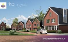 Hofwoningen aan de Schoenmakershof in plan Schoenmakershoek-Oost -  vrijstaande woningen en tweekappers