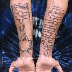 Just done for today piston tattoo,shokbeker tattoo - Tattoo ideen - Airplane Tattoos, Car Tattoos, Forarm Tattoos, Biker Tattoos, Pin Up Tattoos, Body Art Tattoos, Sleeve Tattoos, Tattoos For Guys, Tatoos