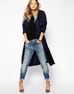 Pin for Later: Survive Chilly Spring Temps With These In-Between Jackets G-Star Relaxed Trench Coat Denim Fashion, Look Fashion, Winter Fashion, Fashion Outfits, Womens Fashion, Fashion Tips, Fashion Hacks, Classy Fashion, 70s Fashion