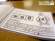 These Interactive Phonics Booklets provide word work AND writing activities for Kindergarten and First Grade.