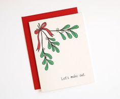 Funny Christmas Card by RowHouse14, $4.25