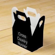 Cross Country Coach Extraordinaire Favor Box - craft supplies diy custom design supply special