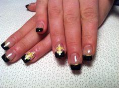 New Orleans Saints Nails Toes Pinterest Saints Saints Nails