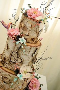 Birch cake with hummingbirds and flowers – Beautiful Wedding Cake Designs Floral Wedding, Fall Wedding, Our Wedding, Wedding Ideas, Wedding Stuff, Wedding Fayre, Wedding Ceremony, Dream Wedding, Graduation Cupcakes