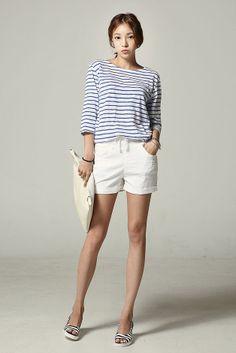 Light Stripe 3/4 Sleeve Top