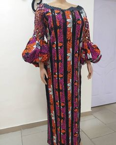 Fabric and tailored by us 🔥🔥💖💖 Latest African Fashion Dresses, African Dresses For Women, African Attire, Dame Chic, Nigerian Wedding Dress, Africa Dress, Long Sleeve Evening Dresses, Africans, Kaftans