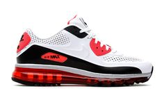 san francisco 9e7bf 745af Nike Air Max 90 2014 Leather QS White Infrared Black
