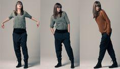 Bequeme Hose mit tiefem Schritt  von ANYONION strick design berlin auf DaWanda.com