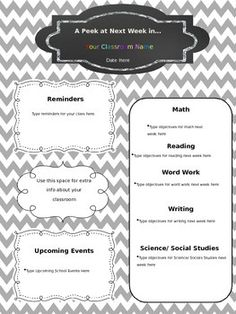 free editable newsletter template newsletter templates parents and classroom management