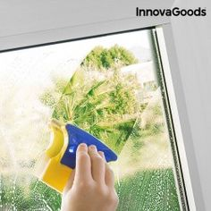 This POWERFUL, two-sided Magnetic Glass Cleaner Brush features internal magnets that lock the two cleaning sides together. Cleaning windows is now easier than ever! House Cleaning Tips, Cleaning Hacks, Power Gel, Double Glazed Window, Exterior, Window Cleaner, Patio Doors, Shower Doors, Brush Cleaner