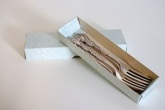 "Vintage 1950s Swedish Nils Johan Silver Plated Pastry/Cake Forks - ""Amsterdam"" Pattern by DeeGeeRetro on Etsy"