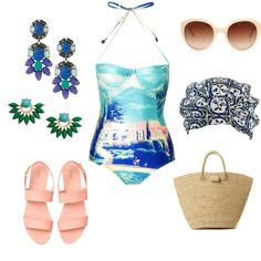 To complete: light blue one piece, pink sandals <3