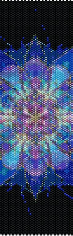Peyote Pattern - Abstraction 55 by TheAbstractBeader on Etsy