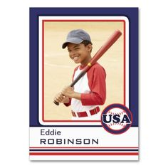 Create Your Own Baseball Card Business Card Templates http://www.zazzle.com/create_your_own_baseball_card_business_card-240629368669854266?rf=238312613581490875