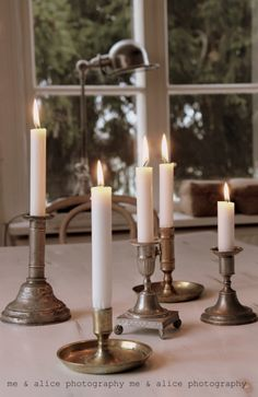 Sometimes all you need is a collection of vintage candles.