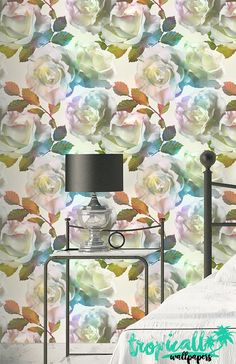 Rose Pattern Wallpaper  Removable Wallpaper  Vintage by TropicWall