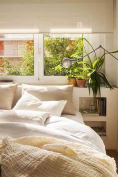 00427664_O. Dormitorio con cabecero de obra y dos hornacinas a modo de mesita de noche_00427664_O Home Bedroom, Master Bedroom, Bedroom Colors, Decoration, Sweet Home, New Homes, House Design, Warm, Colours